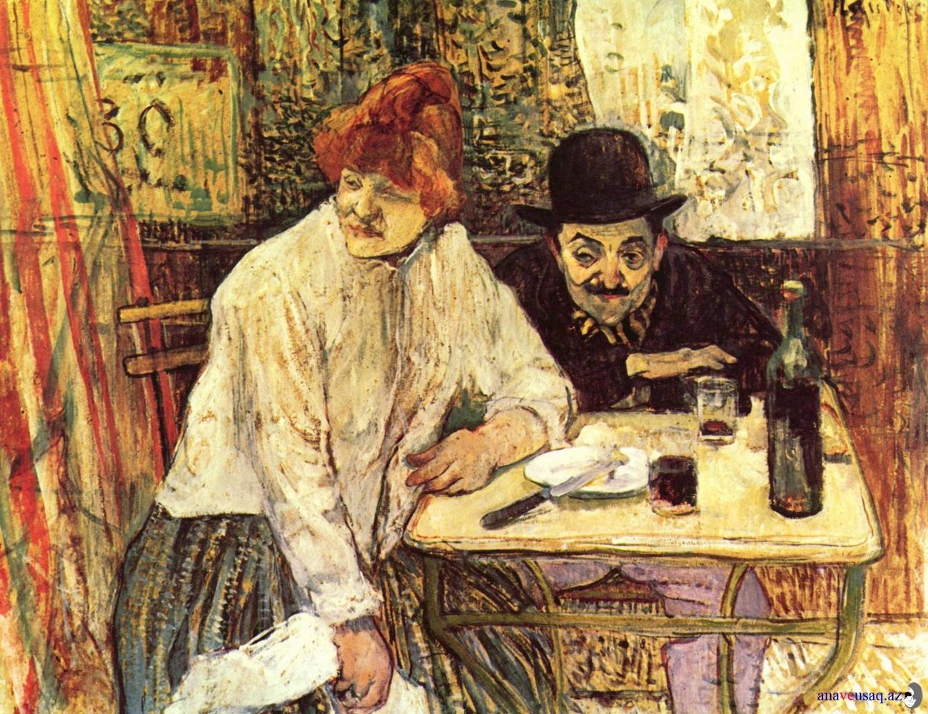 В кафе La Mie, Анри де Тулуз Лотрек, импрессионизм