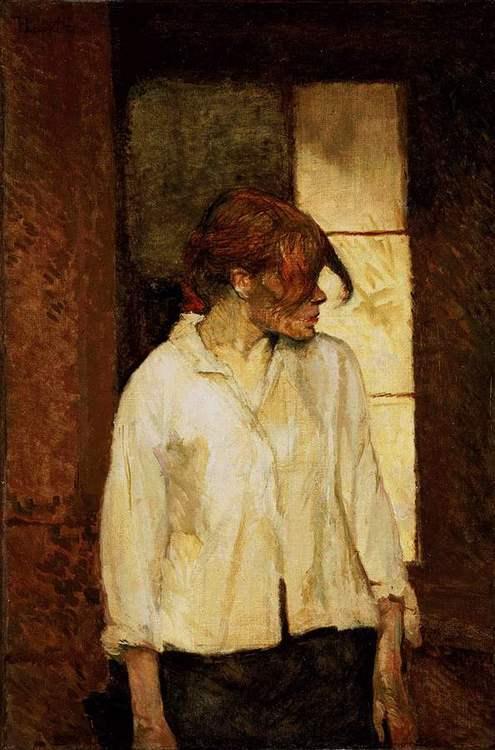 A Montrouge Рыжая Роза, Анри де Тулуз Лотрек, импрессионизм