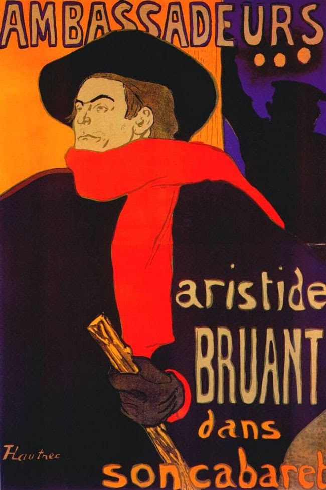 Аристид Брюон, плакаты Тулуз Лотрека