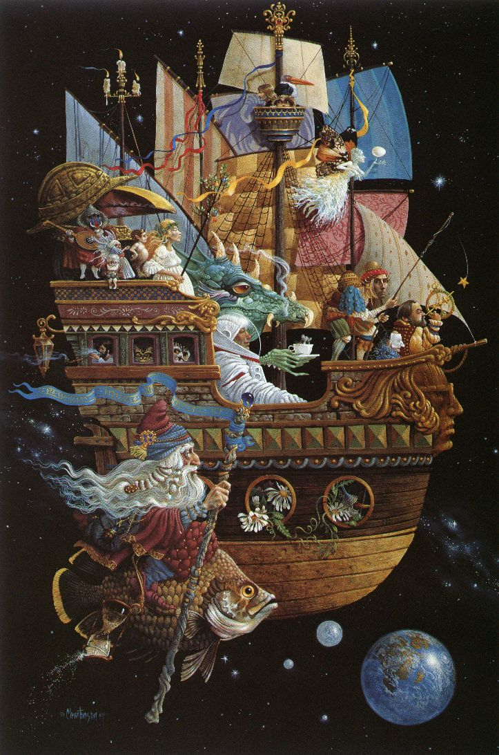 Картины художника Джеймса Кристенсена