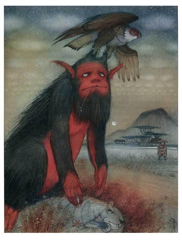 Кирилл Челушкин, японские сказки, иллюстрации