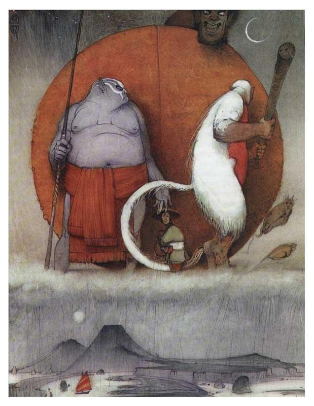 Иллюстрации русского художника Кирилла Челушкина