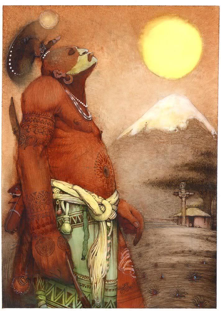 Картины Кирилла Челушкина, индеец