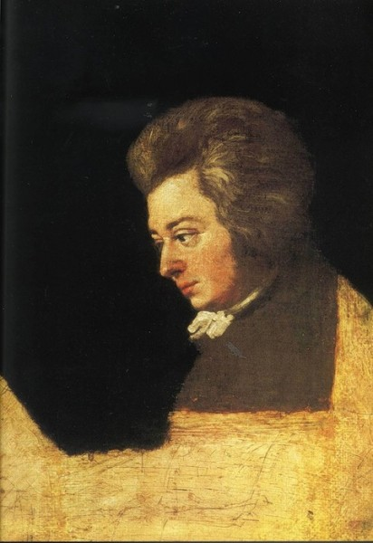 Портрет Моцарта, художник Йозеф Хикель, (свояк Моцарта) 1789 год.