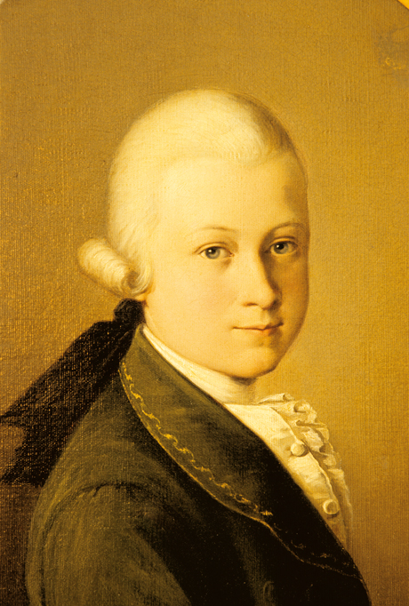 Прижизненный портрет Моцарта Вольфганга Амадея, художник Саверио делла Роза. 1770 год.