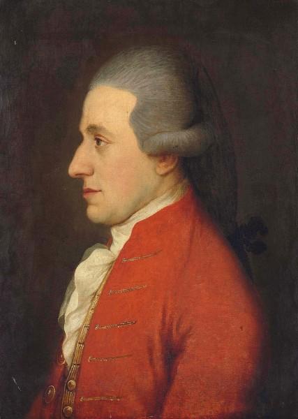 Прижизненный портрет Моцарта, художник Йозеф Хикель, (свояк Моцарта) 1783 год.