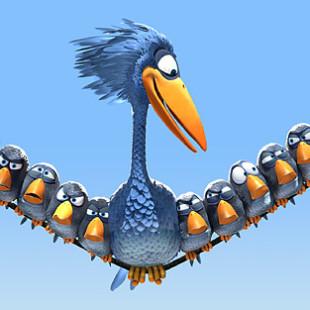 короткометражный мультфильм о птичках