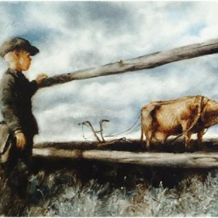 Мультфильм Александра Петрова, Корова, 1989 год