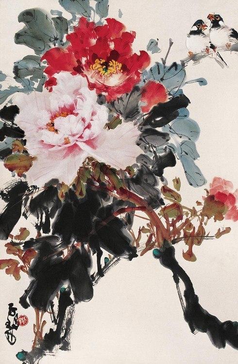 Живопись гохуа, Чжень Цыи, (китайская традиционная живопись), цветы
