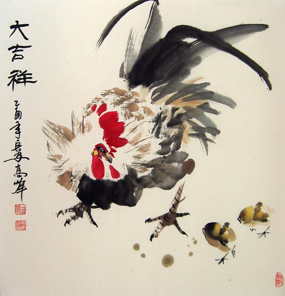 Гао Фэн, живописб гохуа, традиционная китайская живопись