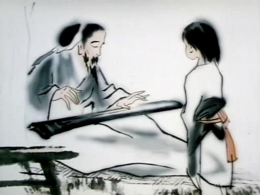 Впечатления от гор и воды, китайский мультфильм в стиле гохуа, Те Вей
