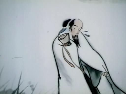Впечатления от гор и вод, китайский мультфильм в стиле гохуа, Те Вей